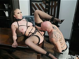 Lena Paul super-naughty suit pounded with Derrick