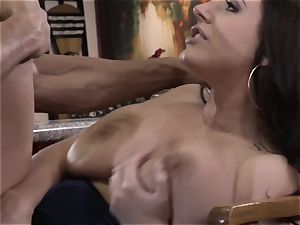 splooged Sn four Angela milky fucks her customer