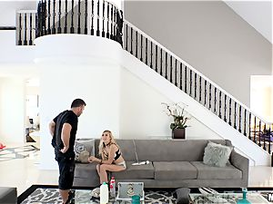 kinky Alexa grace gets her minge rammed after getting caught in Chads palace