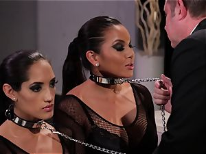 Adriana Luna and Chloe Amour have fun mind-blowing slaves