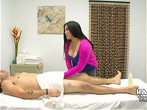 Hidden camera massage couch hook-up