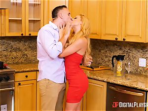 wifey Olivia Austin and ex wife Cherie Deville beaten in the kitchen