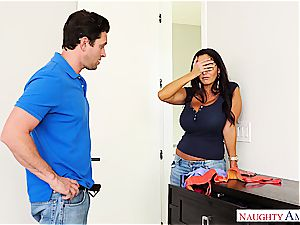 super big-titted mummy Ava Addams rails his prick into oblivion