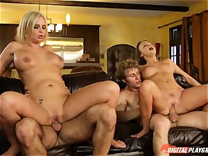 Family fuck-fest lessons with stepmom and stepparent - Phoenix Marie and Alexis Adams