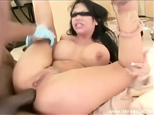 She pumps out On big black cock For joy