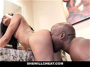 SheWillCheat - cheating wifey drills big black cock in bathroom