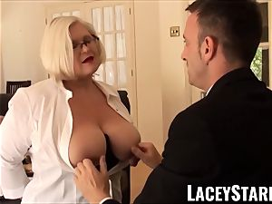 LACEYSTARR - submissive GILF bootie slammed by Pascal milky