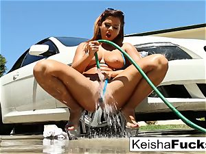 busty brown-haired starlet Keisha gets an ass-fuck tearing up