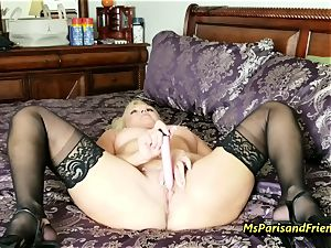 fill Up the Strippers wide open muff with Ms Paris Rose