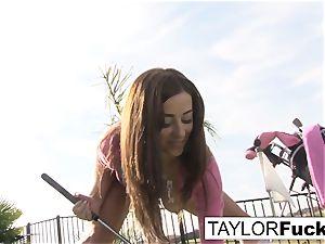 Taylor shows you her gigantic baps