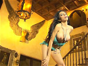 lovely in undergarments, Lela starlet displays off her slinky softcore dance moves