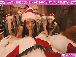 VRBangers Christams orgy With Eight luxurious Elves