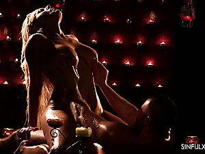 scorching and molten massage completing in sensuous fuckfest with a huge-chested queen