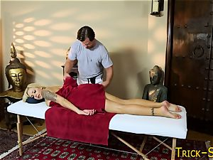 huge-chested honey plows masseur