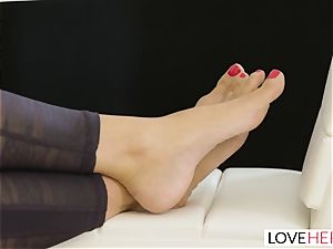 LoveHerFeet - Stepson screws His Stepmom On The bed