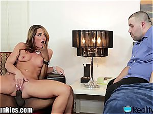 Savannah Fox smashes bbc in front of her husband