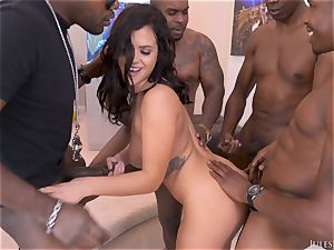 Keisha Grey Scouts For An multiracial group ravage