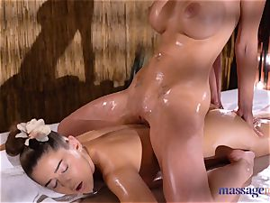 rubdown rooms Amirah Adara and Nathaly Cherie killer massage