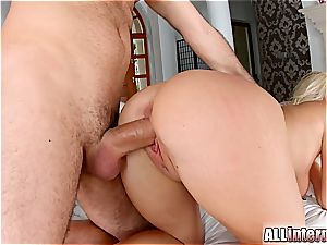 mind-blowing light-haired fucked rigid and creampied