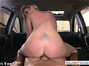 insane Nikki Benz in point of view getting her milf slit boinked