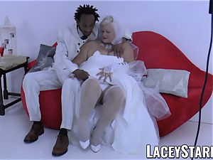 LACEYSTARR - grandmother bride fed with cum after plumbing