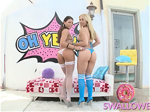 guzzled Adriana and Sarah filthy blow blowjob