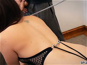 Spizoo-Pet honey Chanel Preston is punished by 2 weenies