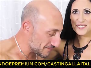audition ALLA ITALIANA - sloppy new-comer anal casting