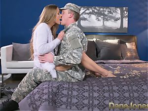 Dane Jones firm deepthroating and boning sloppy Army wifey