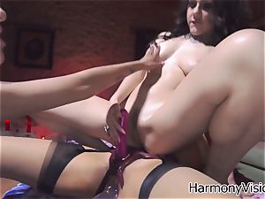mischievous lesbians go horny fuck stick porking their raw fuckboxes
