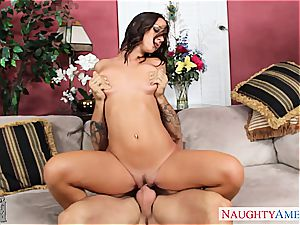 Jada Stevens is super hot and insane for a ginormous pipe inwards