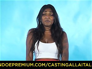 audition ALLA ITALIANA - Indian honey gets large chisel ass-fuck