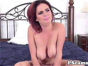 ginger-haired cam babe Ashlee Graham cockriding