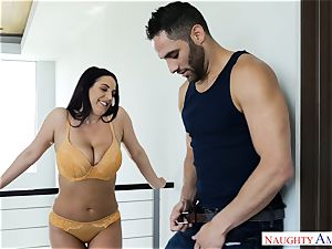 Lusty big-chested Australian Angela white spunked Over After hard-core plow