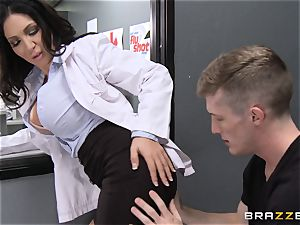 titty racked pharmacist Emily B in fantasy smashing