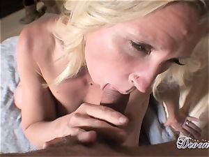 Devon Lee is liking her man's cane inserted in her saucy facehole