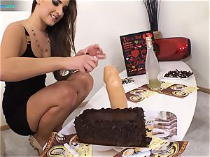 good bombshell Amirah Adara and tatted dame Misha Cross plays with their dildos