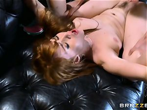 ginger-haired Gwen Stark tears up her brothers humungous pink cigar