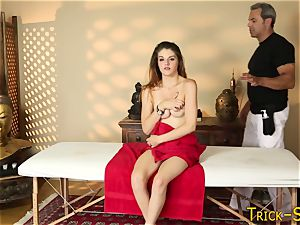Spied on massaged nubile
