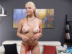 jaw-dropping crazy honey Sarah Vandella has a booty plug stuffed in her rump