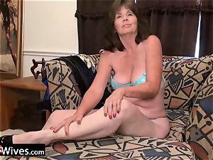USAWiveS Mature Jade anal invasion fucktoy masturbation