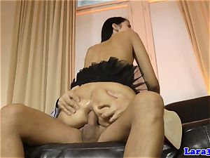 glamour cougar licks jism of booty-fucked eurobabe