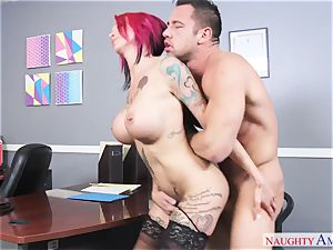 big-titted crank female with hefty cupcakes gets nailed on the office desk