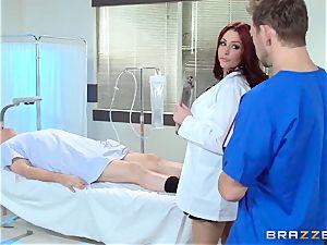 wondrous medic Monique Alexander drills her trainee