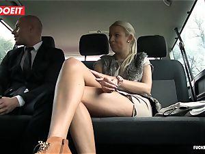 LETSDOEIT -scorching blondie Gets cum All Over Her butt In cab
