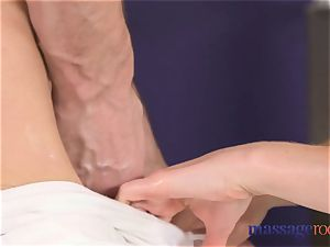 massage rooms little tight clean-shaven blonde gargles and drills