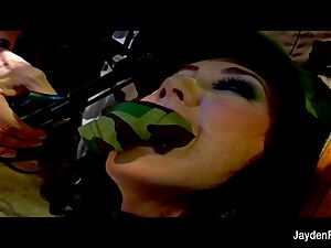 Army humping with buxom dark-haired Jayden Jaymes