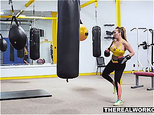 big-titted mummy knocks out her trainer