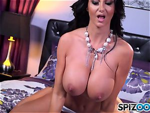 Ava Addams whips out her large bosoms
