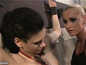 Kathia Nobili torturing a insatiable college dame